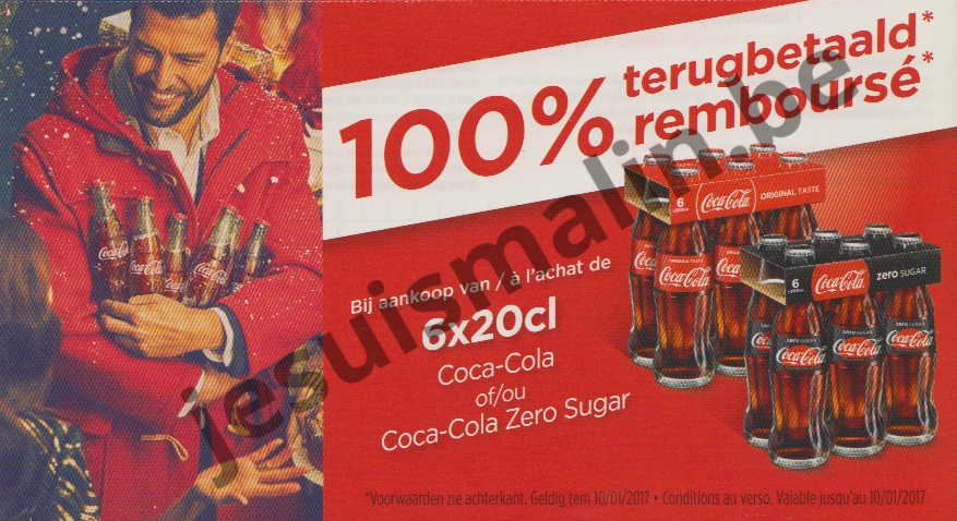 coca cola zero sugar 100 rembours 10 01 2017 je suis malin. Black Bedroom Furniture Sets. Home Design Ideas