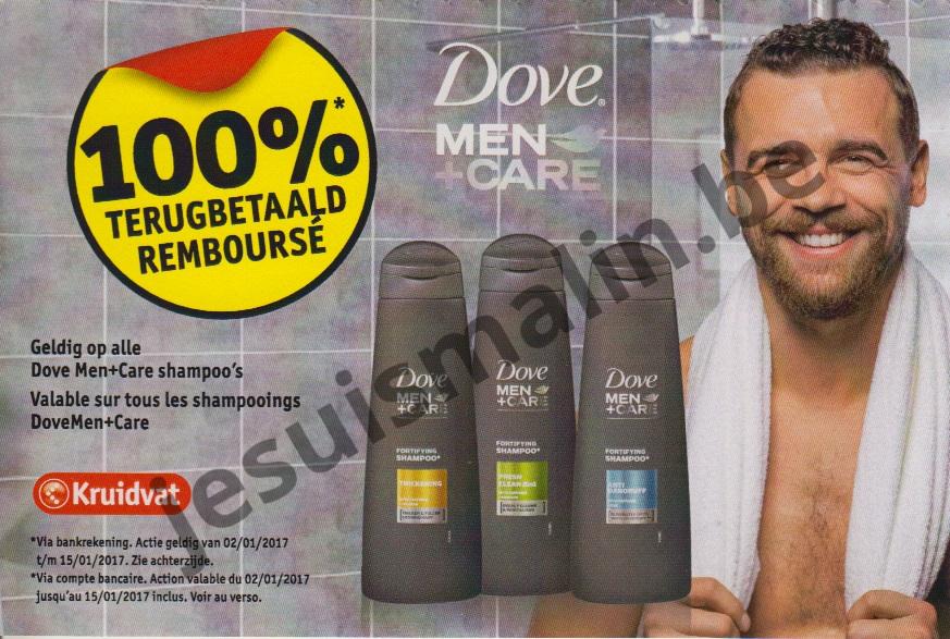 shampooing dove men care 100 rembours 15 01 2017 je suis malin. Black Bedroom Furniture Sets. Home Design Ideas