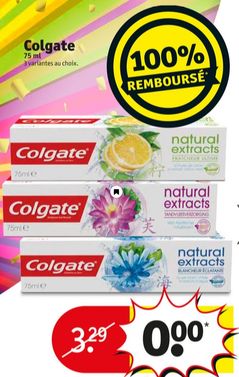 dentifrice colgate natural extracts 100 rembours 11 06 2017 je suis malin. Black Bedroom Furniture Sets. Home Design Ideas