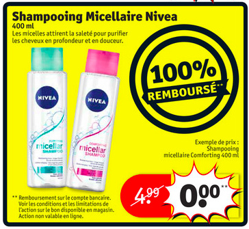 shampooing micellaire nivea 100 rembours 11 02 2018 je suis malin. Black Bedroom Furniture Sets. Home Design Ideas