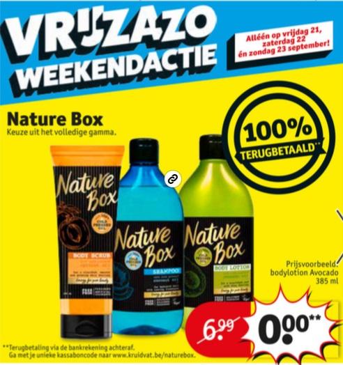 Nature Box remboursé chez Kruidvat