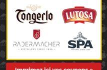 Bons de réduction sur les produits belges Spa, Lutosa, Tongerlo et Radermacher