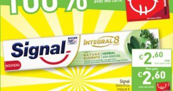 Dentifrice Signal remboursé chez Intermarché