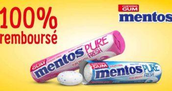Chewing-gum Mentos Gum 100% remboursé avec myShopi