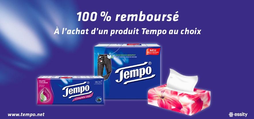Mouchoirs Tempo 100% remboursé avec myShopi