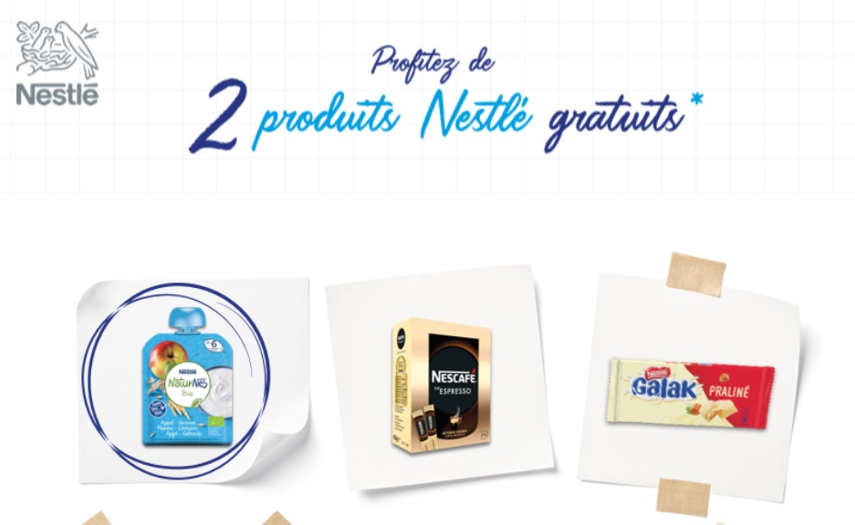 Produits Nestlé gratuits