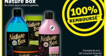 Produit Nature Box 100% remboursé chez Kruidvat