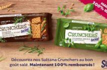 Sultana Crunchers 100% remboursé avec myShopi