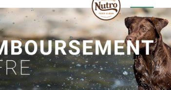 Nourriture Nutro pour chiens 100% remboursé