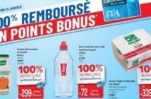 Produits remboursés en points Bonus chez Carrefour ce 31 janvier 2019
