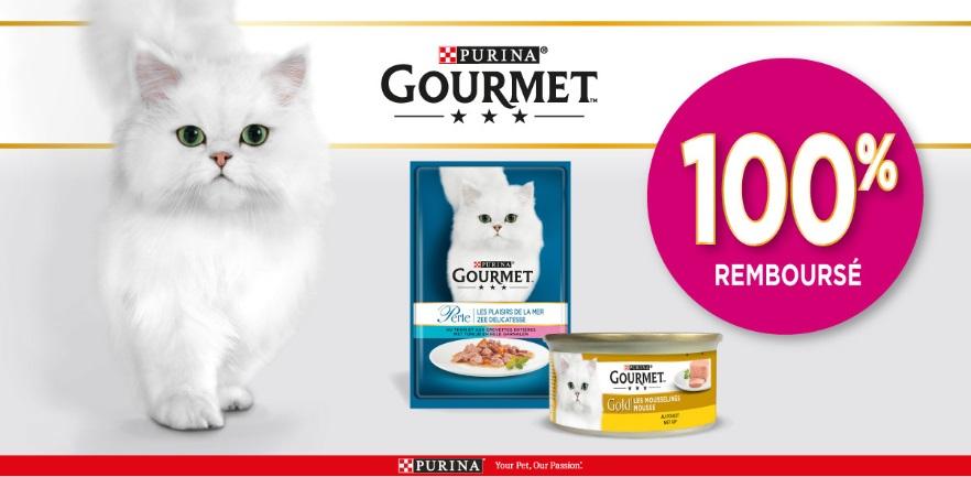 Aliments pour chats Purina % remboursé avec myShopi