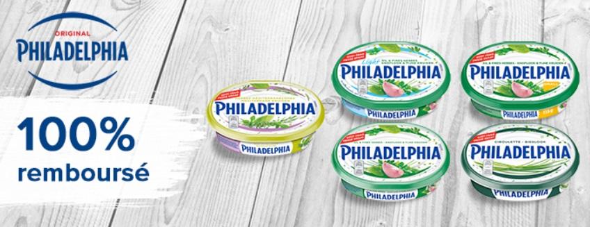 Philadelphia aux herbes 100% remboursé