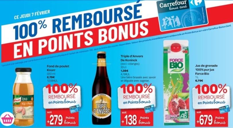 Produits 100% remboursés au Carrefour Hyper le 7 février 2019
