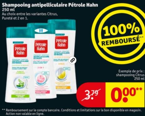 Shampooing Pétrole Hahn 100% remboursé chez Kruidvat