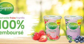 Yaourt Campina 100% remboursé