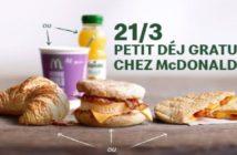 Petit-déjeuner gratuit chez Mc Donald's