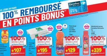 Produits 100% remboursé chez Carrefour le 28 mars 2019