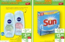 Gel douche Nivea et tablettes lave-vaisselle Sun 100% remboursé chez Intermarché