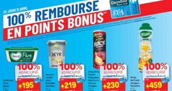 Produits 100% remboursé chez Carrefour Hyper le 11 avril 2019