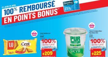 Produits 100% remboursés chez Carrefour le 25 avril 2019