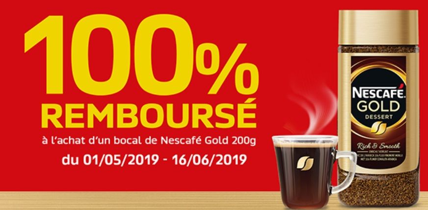 Café Nescafé Gold 100% remboursé