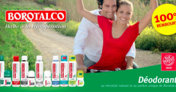 Déodorant Borotalco 100% remboursé sur myShopi