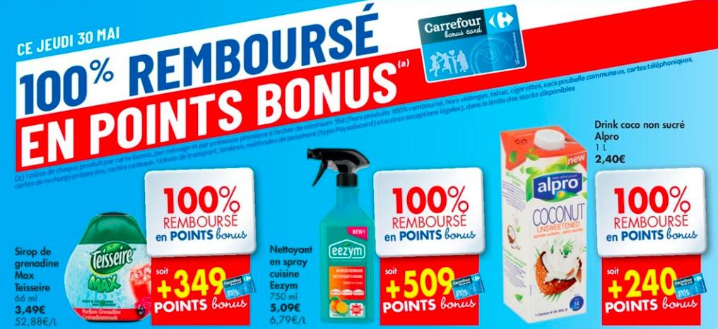 Produits 100% remboursés chez Carrefour Hyper ce vendredi 31 mai 2019