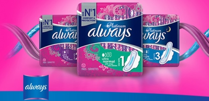 Serviettes hygiéniques Always Platinum 100% remboursé