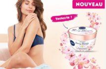 Test gratuit du Body Soufflé Fleur de cerisier et huile de jojoba Nivea