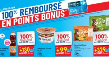 Produits 100% remboursés au Carrefour Hyper le 13 juin 2019