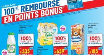Produits 100% remboursés chez Carrefour Hyper le 6 juin 2019