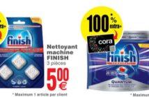 Nettoyant et tablettes lave-vaisselle 100% remboursé au Cora