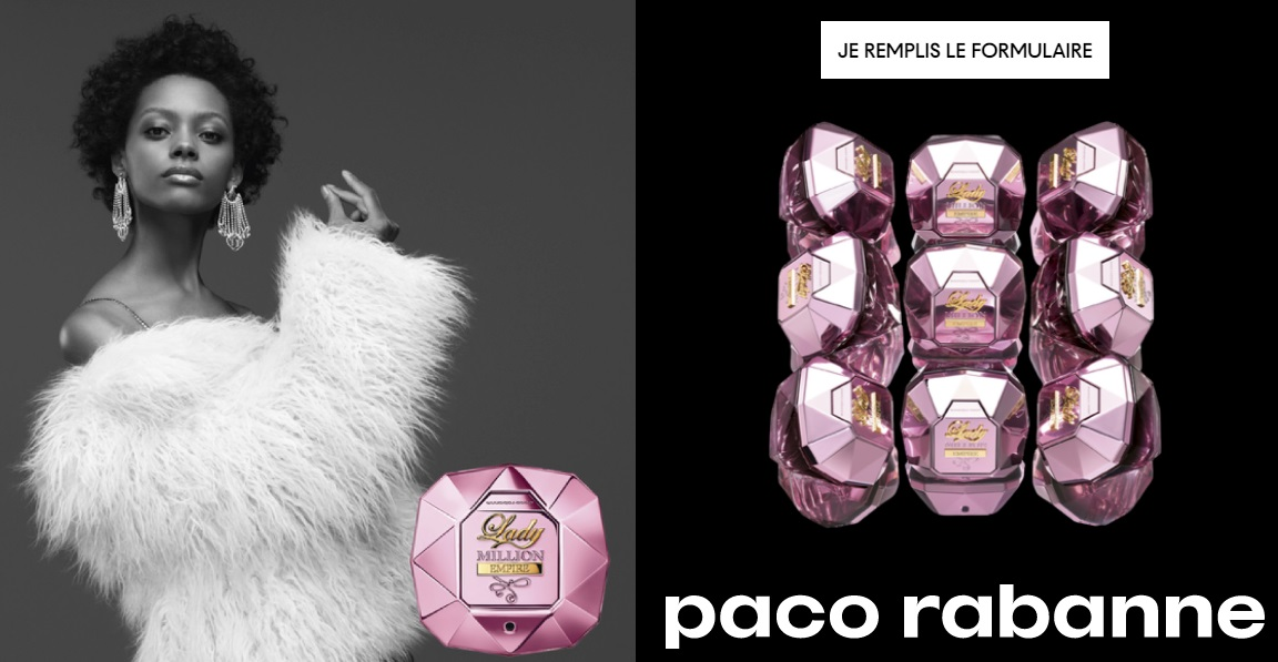 Échantillon gratuit du parfum Lady Million Empire de Paco Rabanne