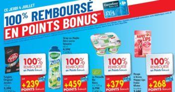Produits 100% remboursés chez Carrefour le 4 juillet 2019