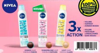 Shampooing sec Nivea 100% remboursé chez Kruidvat