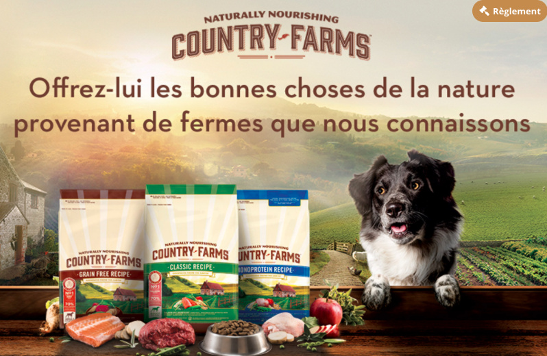 Nourriture pour chiens gratuite Country Farms