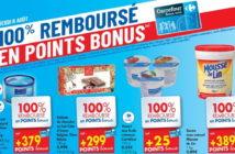 Produits 100% remboursé au Carrefour le 8 août 2019