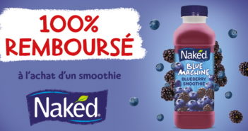 Smoothie Naked 100% remboursé sur myShopi