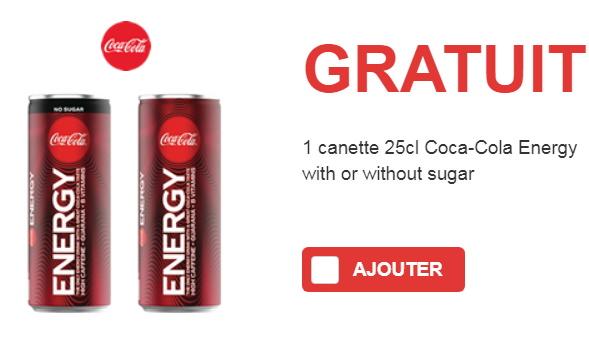 Coca-Cola Energy gratuit