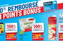 Produits 100% remboursés chez Carrefour le 19 septembre 2019