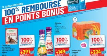 Produits 100% remboursé chez Carrefour le 26 septembre 2019