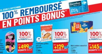 Produits 100% remboursé chez Carrefour le 5 septembre 2019