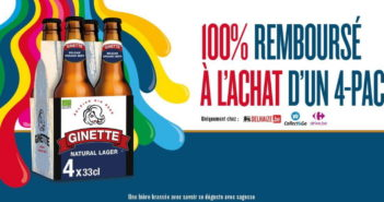 Bière Ginette 100% remboursé avec myShopi