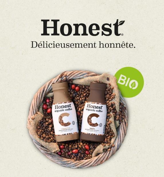 Boisson au café Honest bio 100% remboursé avec Shopmium
