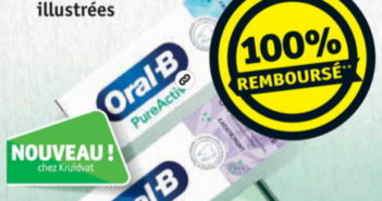 Dentifrice Oral-B PureActiv 100% remboursé chez Kruidvat