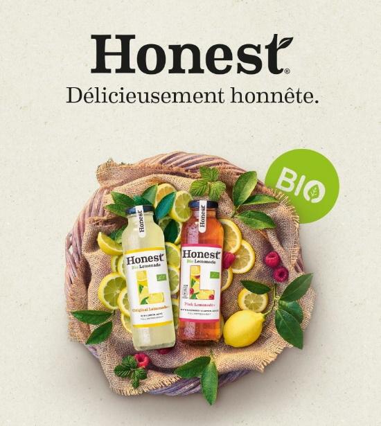 Limonade bio Honest 100% remboursé avec Shopmium