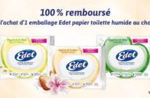 Papier toilette humide Edet 100% remboursé