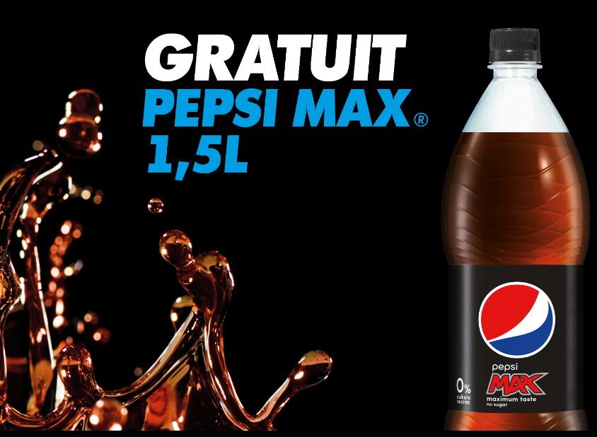 Bouteille de Pepsi Max 100% remboursé