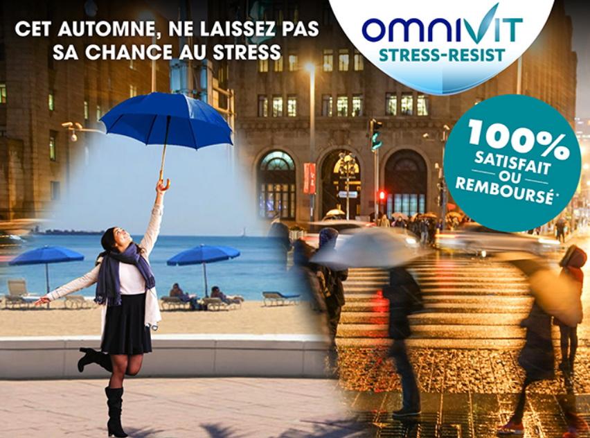 Complément alimentaire Omnivit Stress Resist 100% remboursé
