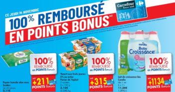 Produits 100% remboursé chez Carrefour le 14 novembre 2019